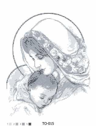 ТО-015 Мария с ребенком в сером 35х45 8784b9b2134cf