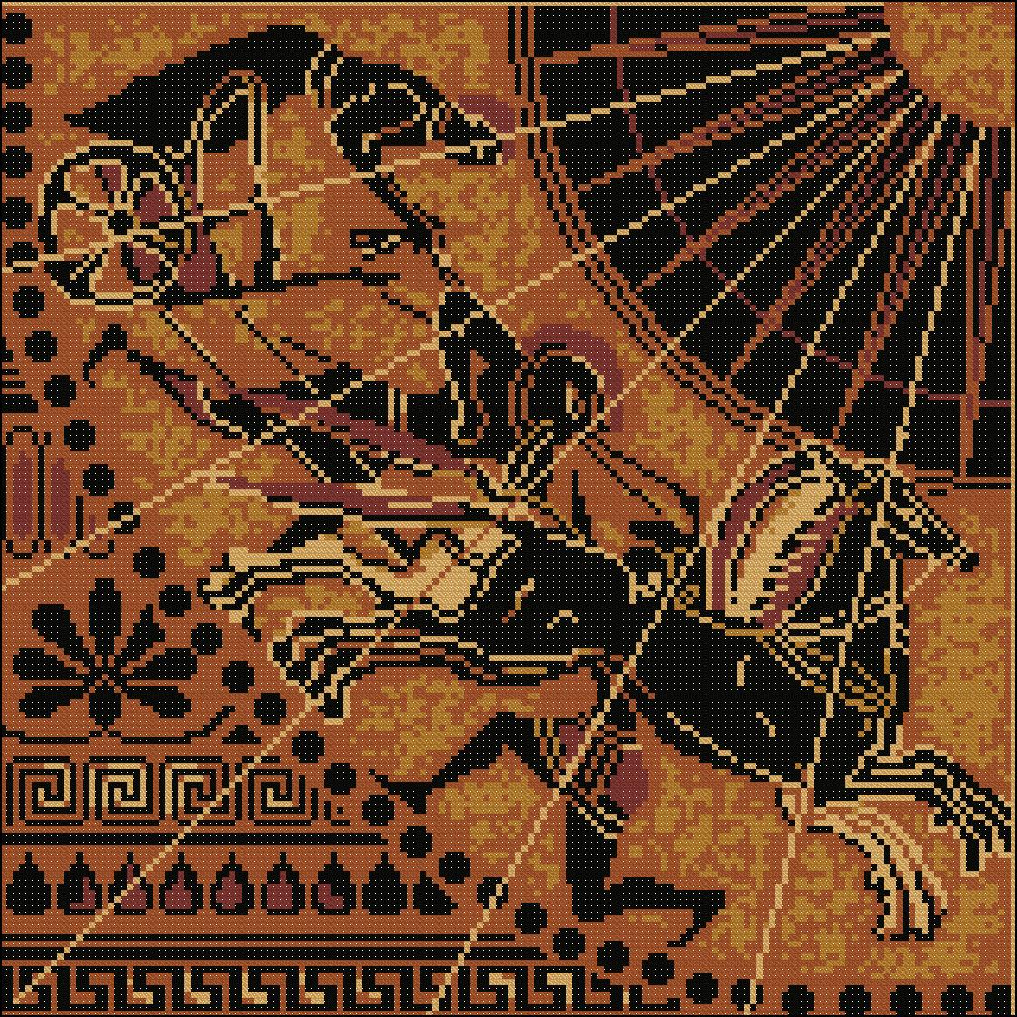 Схема вышивки гречанки 68