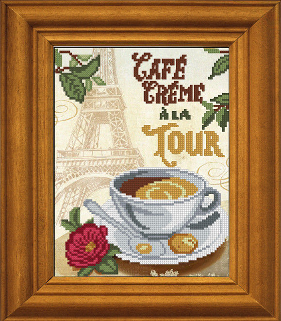Кофе для нее вышивка схема 72