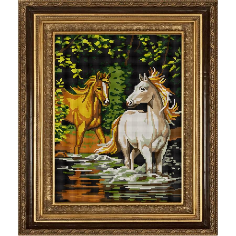 Вышивка бисером лошади цена