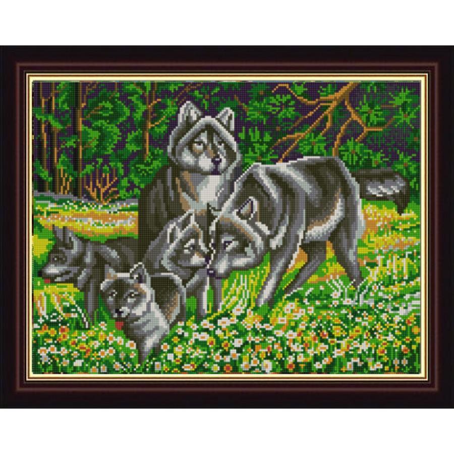 Волки вышивки бисером 47