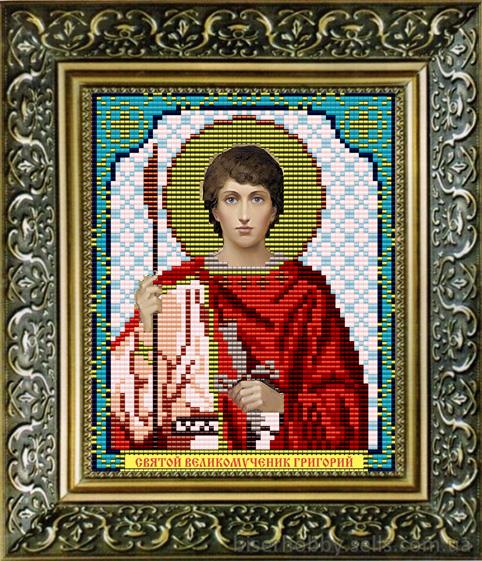 Шарбель святой вышивка бисером 56