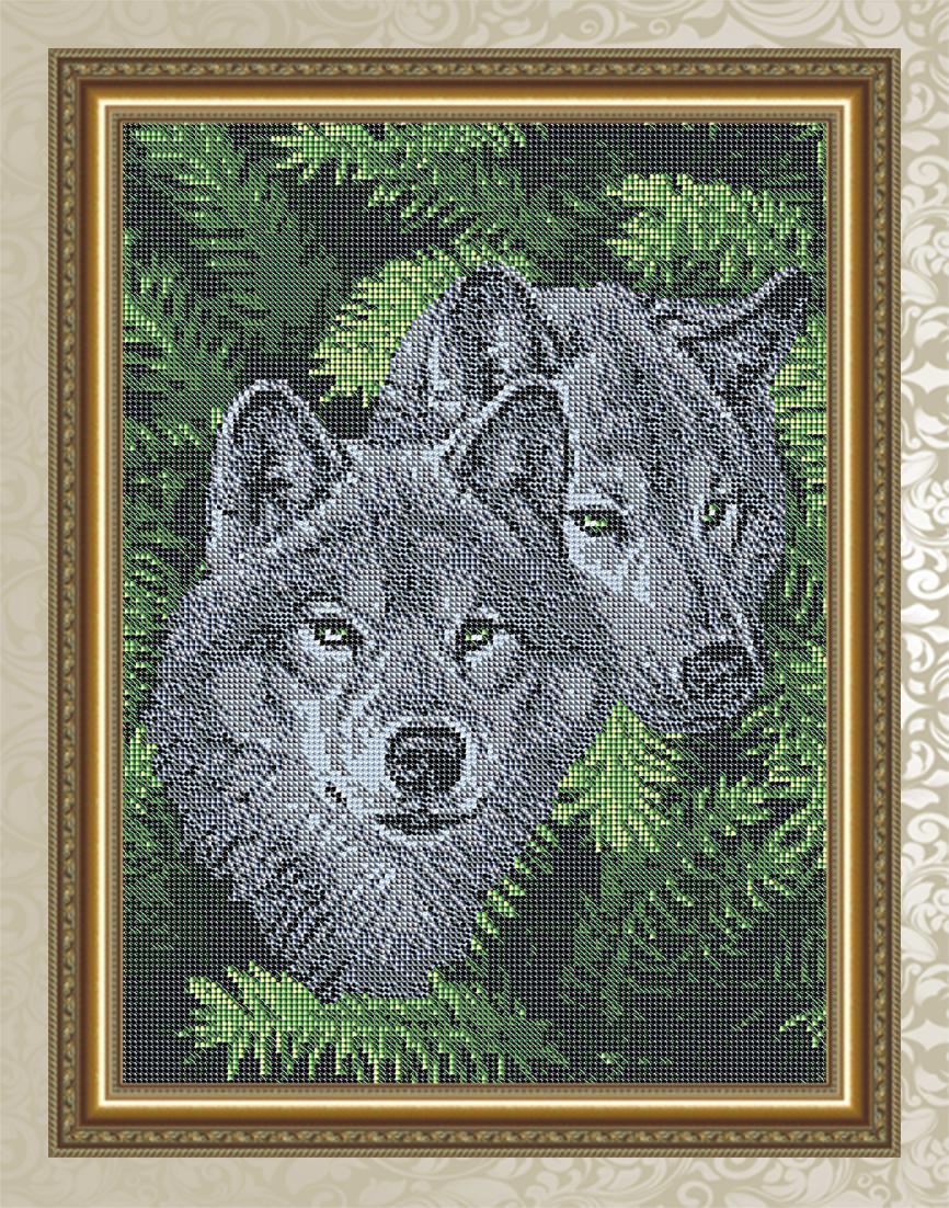 Волки вышивка бисером схемы 53
